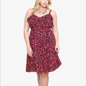Torrid Pink & Black Leopard Print Sundress Size 2X